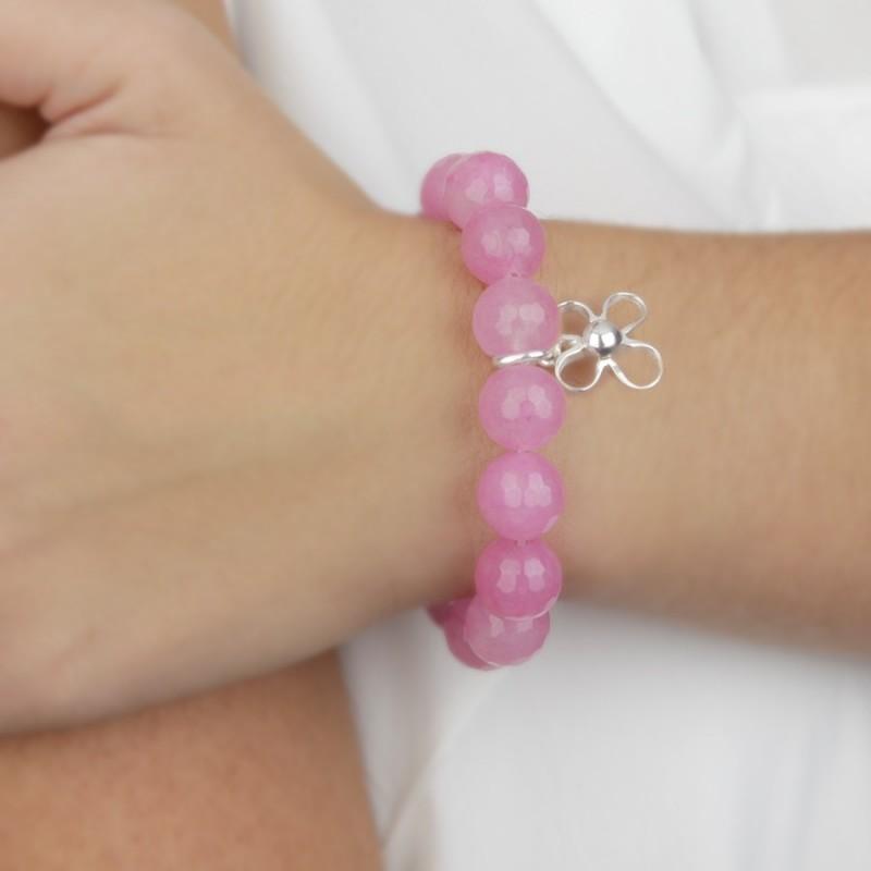 Pulsera Agata rosa contra el cancer de mama