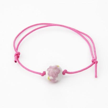 Pulsera solidaria cancer de mama Fantasía Rosa