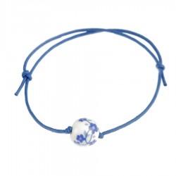 Pulsera solidaria cancer de mama Fantasía Azul