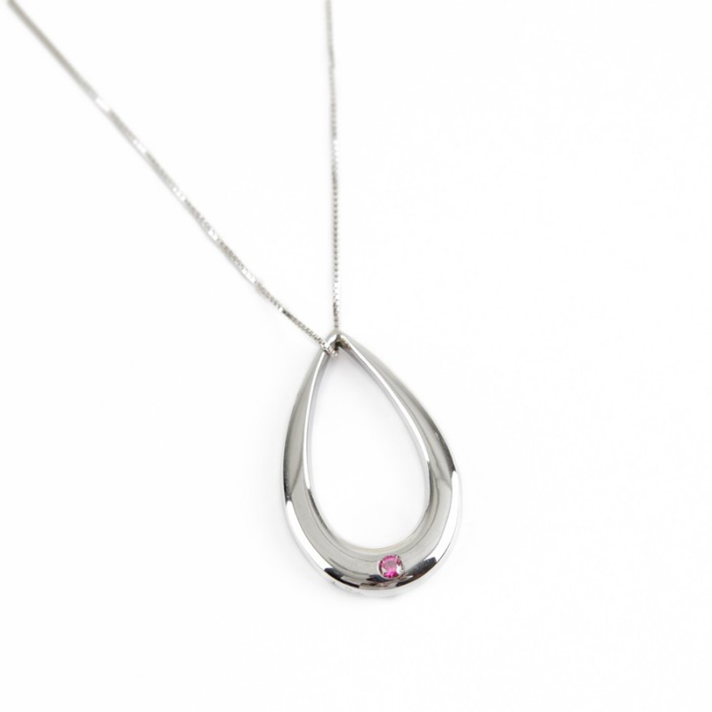 Colgante Solidario Gota de Plata cancer de mama