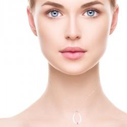 Colgante de Plata y Rubí cancer de mama