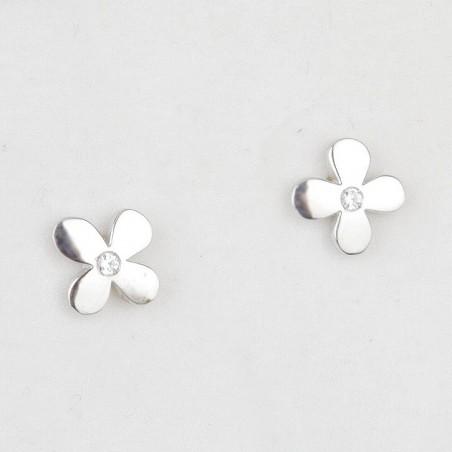 Pendientes flor de plata