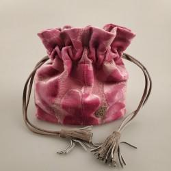 Bolso solidario saco pequeño rosa 3/50