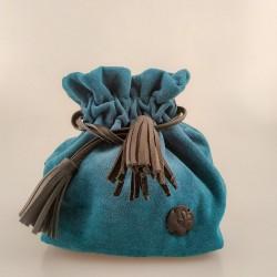 Bolso solidario saco pequeño azul 12/50