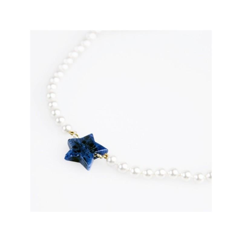 Collar Estrella Blava Flor de Vida