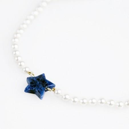 Collar Estrella Azul Flor de Vida