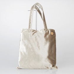 Bolso Tote Bag solidario de terciopelo en dorado 17/100