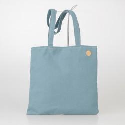 Bolso Tote Bag solidario de algodón grueso en azul claro 22/100
