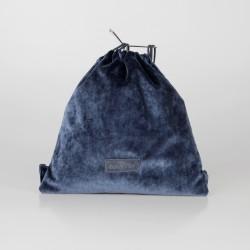 Bolso solidario estilo mochila de terciopelo azul oscuro 1/100