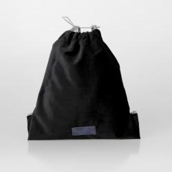 Bolso solidario estilo mochila de terciopelo negro 7/100