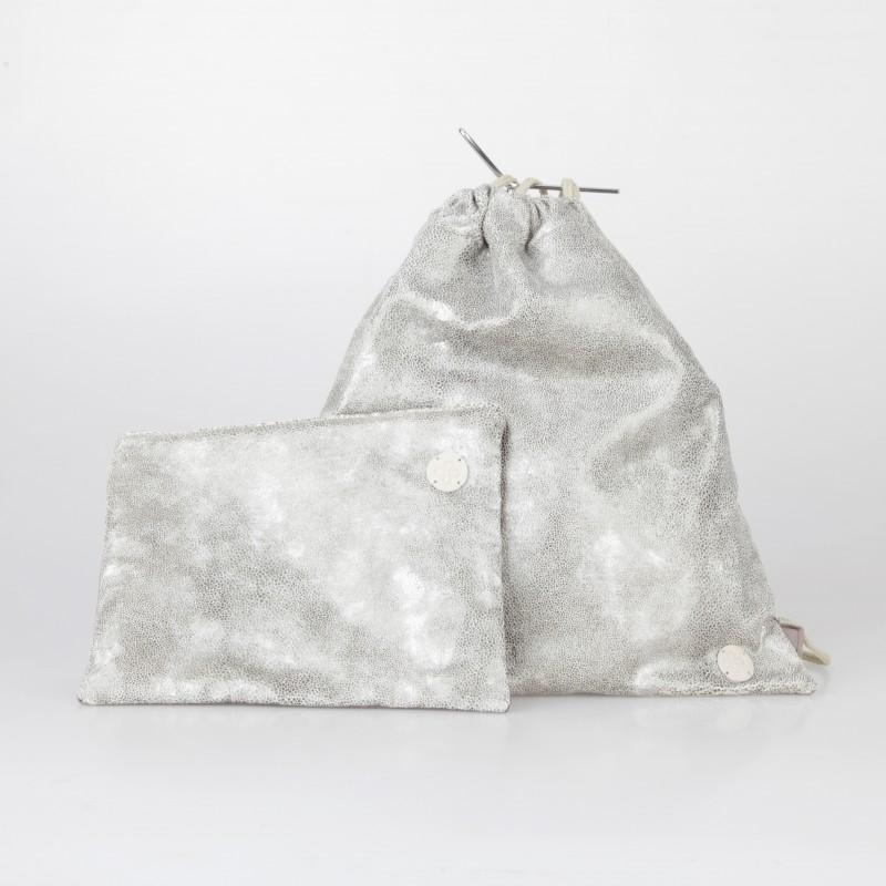 Conjunto mochila y cartera de material tecnológico 5/100