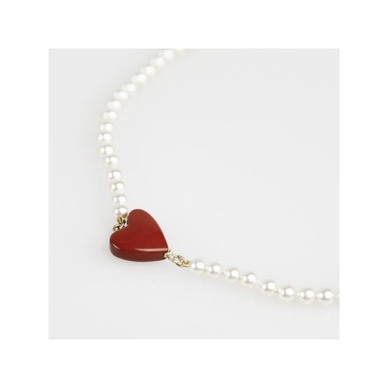 Collar Corazón Rojo Flor de Vida