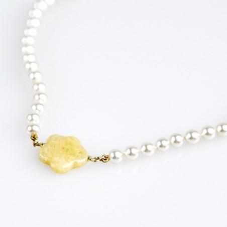 Collar Nube Amarilla Flor de Vida