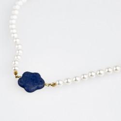 Collar Nube Azul Flor de Vida